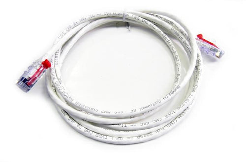 Datcom Assured Cat5e lockable white patch cord x 15 feet