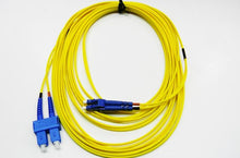 Load image into Gallery viewer, Datcom Assured LC/SC OS2 SM 2mm fiber patch cord x 33ft