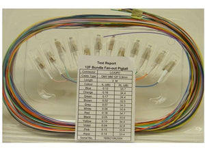 Datcom Realm LC to open end pigtail OM1 multimode x 10ft, 12/pk