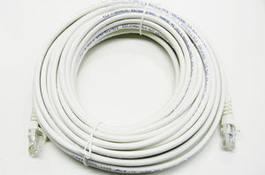 Datcom Realm Ethernet Cat5e white patch cable x 50 feet