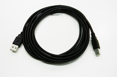 Datcom Realm USB 2.0 A to B male to male black cable x 10 feet