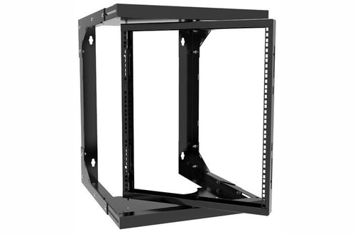 Hammond HWMR1912UBK center swing 12U wall rack
