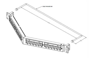 Hubbell HP6A24A Cat6A 24-port angled patch panel