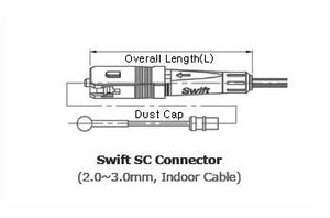 Ilsintech SC,MM OM3 & OM4,UPC,2mm,3mm splice on connector.