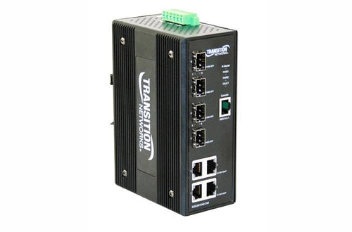Transition SISGM1040-244-LRT 4 + 4 SFP industrial switch