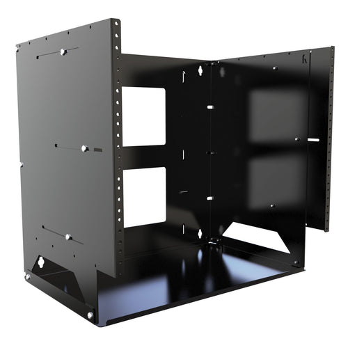 Hammond APBS198UBK 8U adjustable depth wall rack with shelf