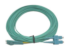Load image into Gallery viewer, Datcom Realm LC/SC OM3 MM 2mm fiber patch cord x 35ft