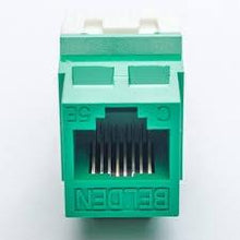 Load image into Gallery viewer, Belden AX104185 RJ45 C5e green KeyConnect jack