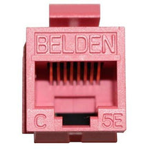 Load image into Gallery viewer, Belden AX104183 RJ45 C5e red KeyConnect jack