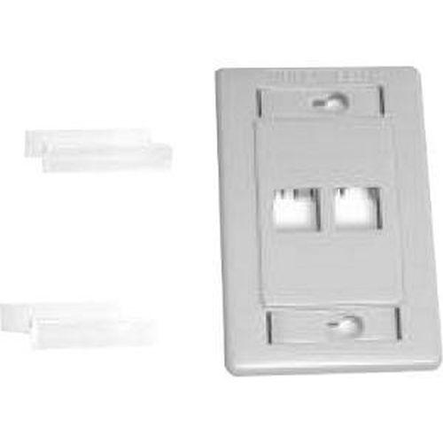 Belden AX101431 Interface MDVO 2 port wall mount faceplate grey