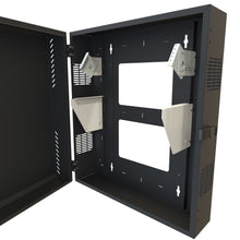 "Load image into Gallery viewer, Hammond HLP4U43BK low profile cabinet 43"" high x 11.15"" deep"