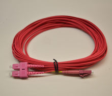 Load image into Gallery viewer, Datcom Realm SC/LC OM4 MM 2mm fiber patch cord x 23 ft