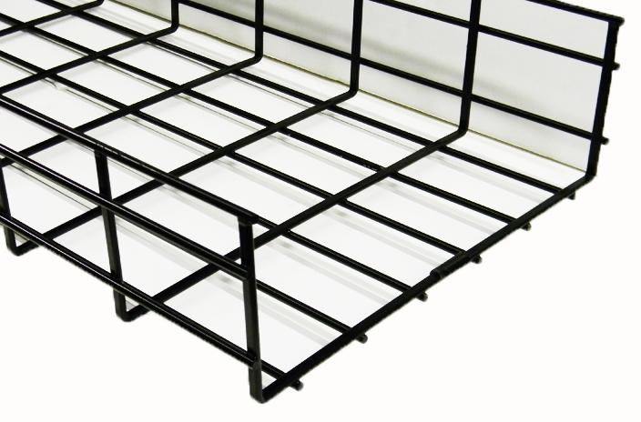 WBT4X12SBL shaped cable tray 4 x 12 x 118 Black