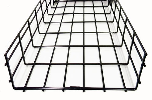 WBT2X24SBL shaped cable tray 2 x 24 x 118 Black