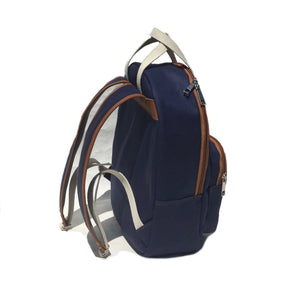 Navy Cotton canvas backpack