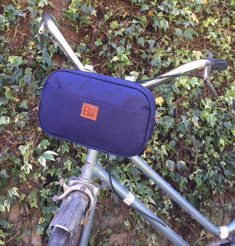 Bike Pack Handlebar blue navy canvas