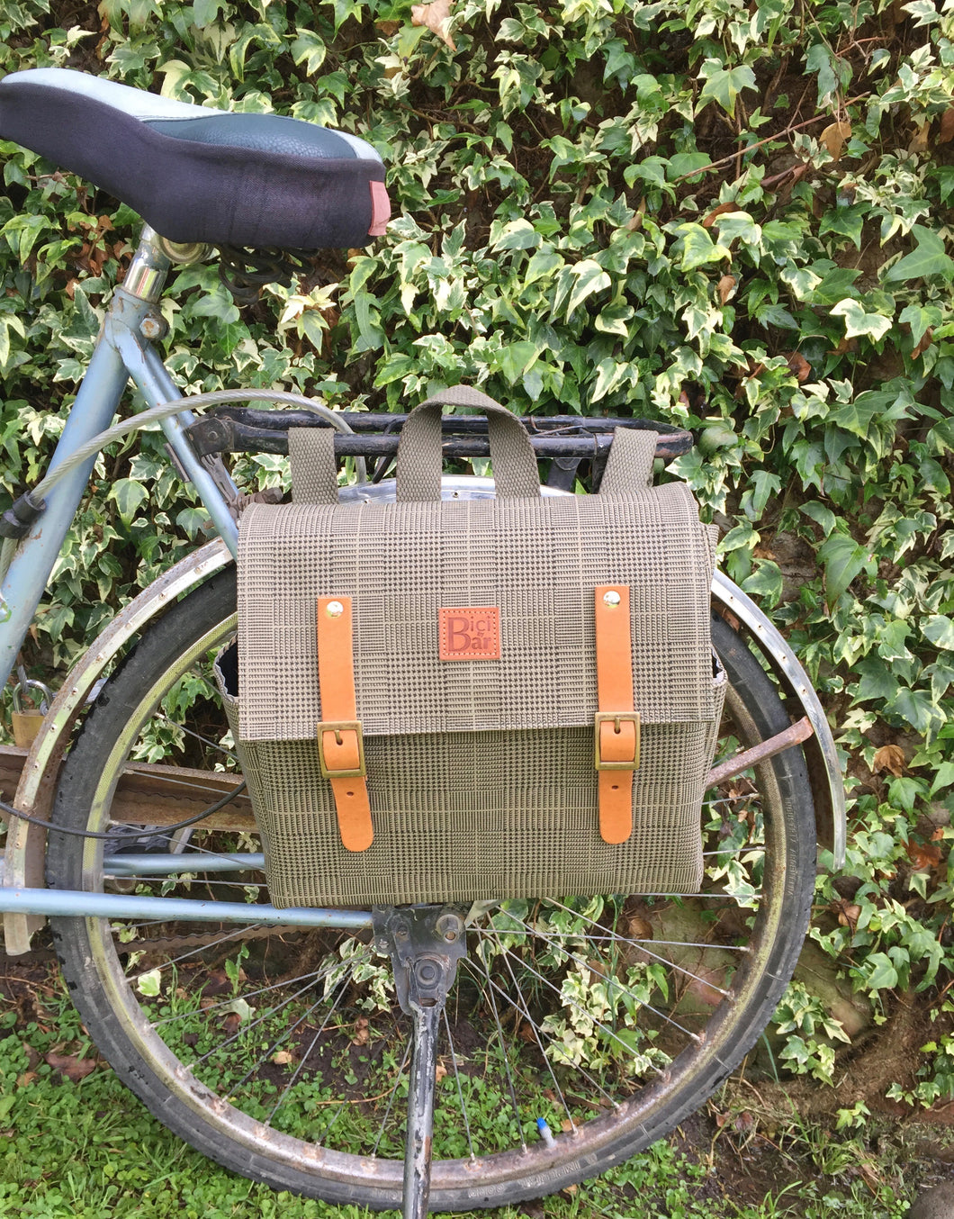 Bicycle Pannier Prince of Wales canvas