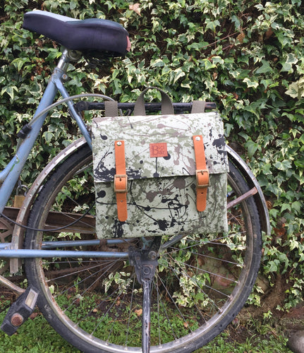 Bicycle Pannier Vesubio green canvas