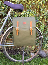 Load image into Gallery viewer, Green Waterproof Bicycle Backpack Pannier