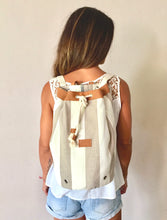 Load image into Gallery viewer, Sailor Bag Beige Stripes