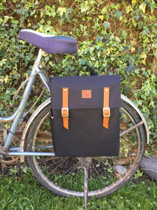 Black Waterproof Bicycle Backpack Pannier