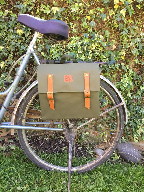 Green Waterproof Bicycle Pannier