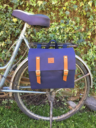 Blue Waterproof Bicycle Pannier