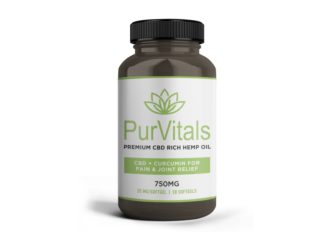 PurVitals-CBD-Hemp-Oil-25-mg-Softgel-capsules-curcumin