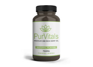 PurVitals CBD Hemp Oil Softgel Capsules