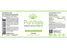 Load image into Gallery viewer, PurVitals CBD Hemp Oil Softgel Capsules