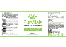 Load image into Gallery viewer, PurVitals CBD Hemp Oil Softgel Capsules with Curcumin 25 mg