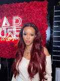 The 'BELLA' HD Frontal Wig (Red)