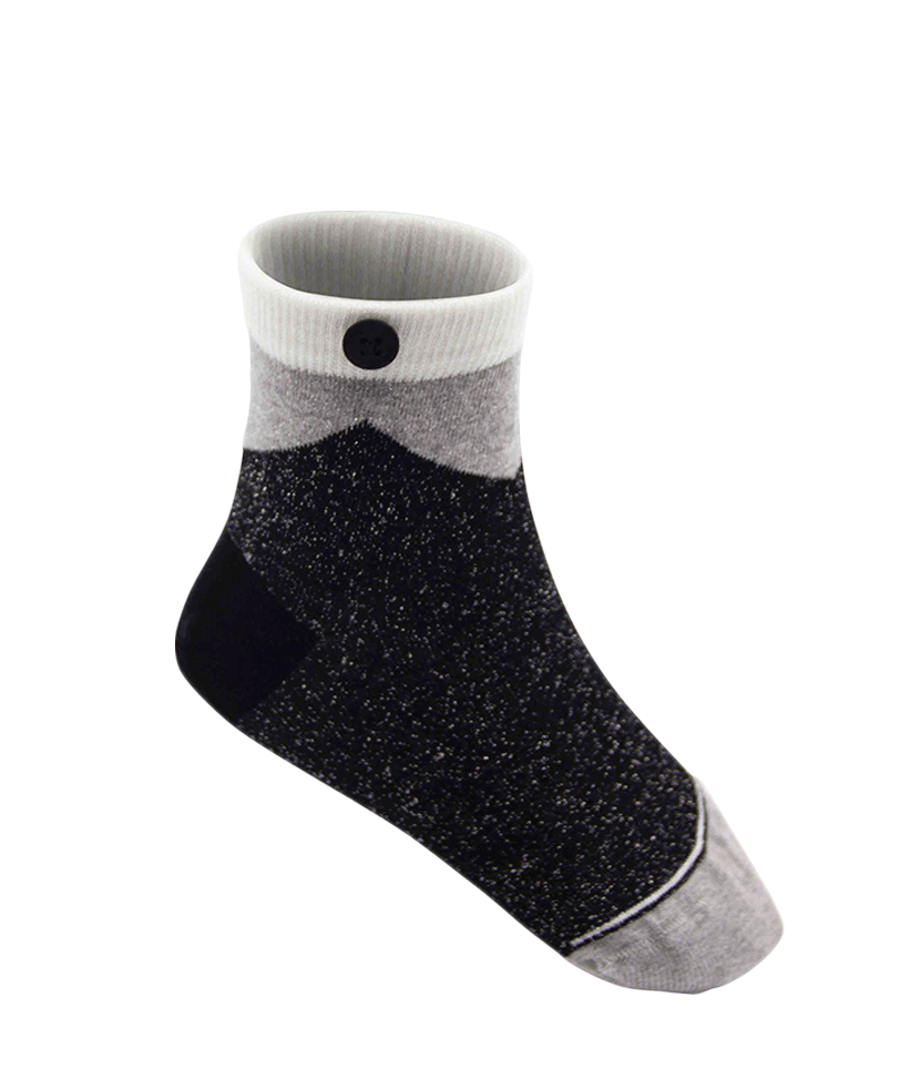 Qnoop Kids Organic Socks Arrow Glitter Black