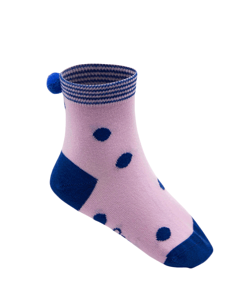 Qnoop Kids Organic Socks Dots Light Pink