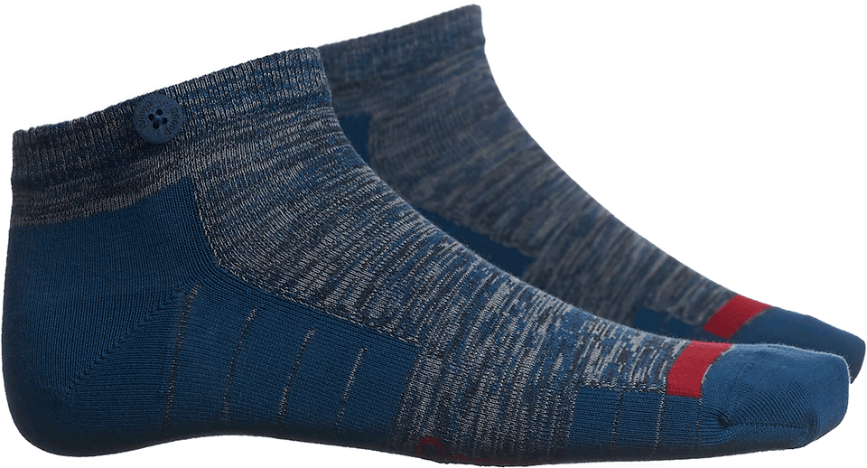 Qnoop Mens Organic Socks Low Ankle in Blue