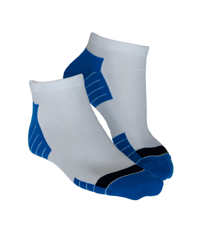 Qnoop Mens Organic Socks Low Ankle in White