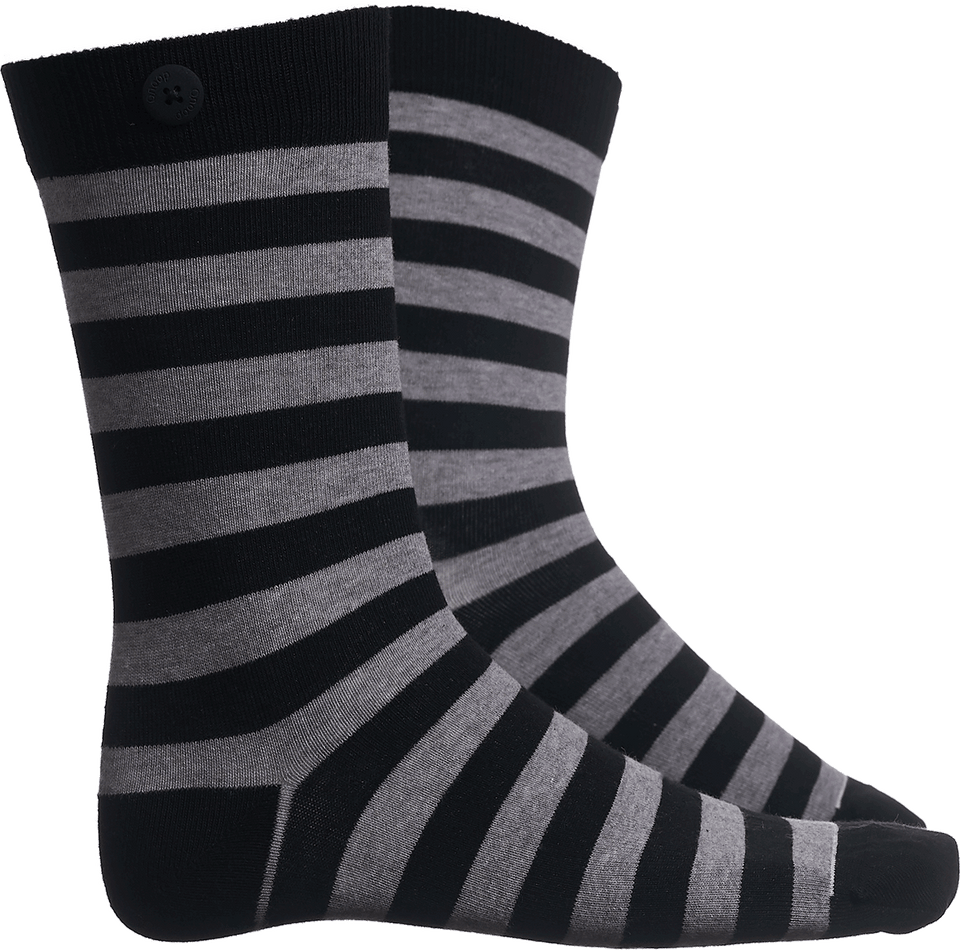 Plain Stripe - Black/Grey - QNOOP
