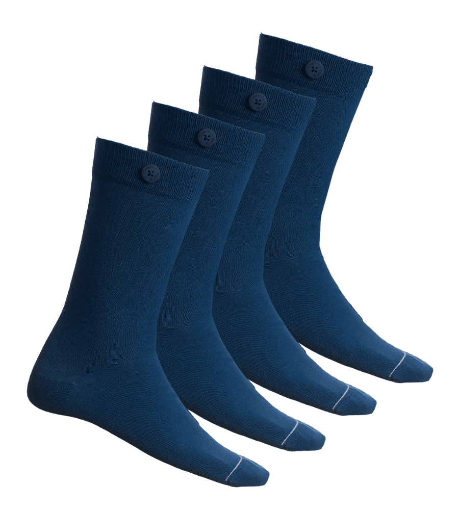 4 Pack Bundle - Solid Socks- Sea Blue - QNOOP