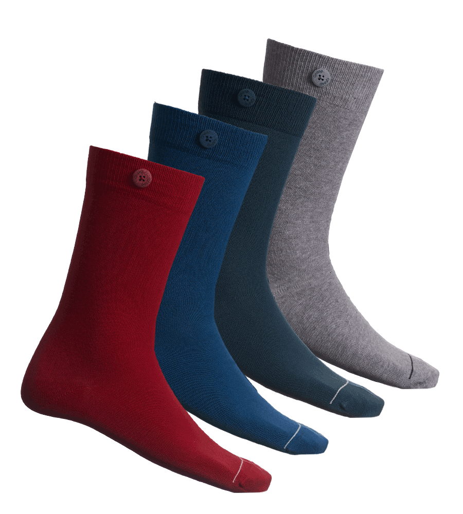 Qnoop Organic Basic Socks Multipack in 4 Colors