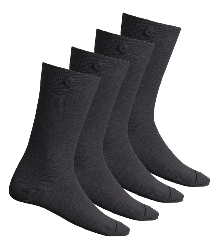 4 Pack Bundle - Solid Socks-Dark Grey - QNOOP
