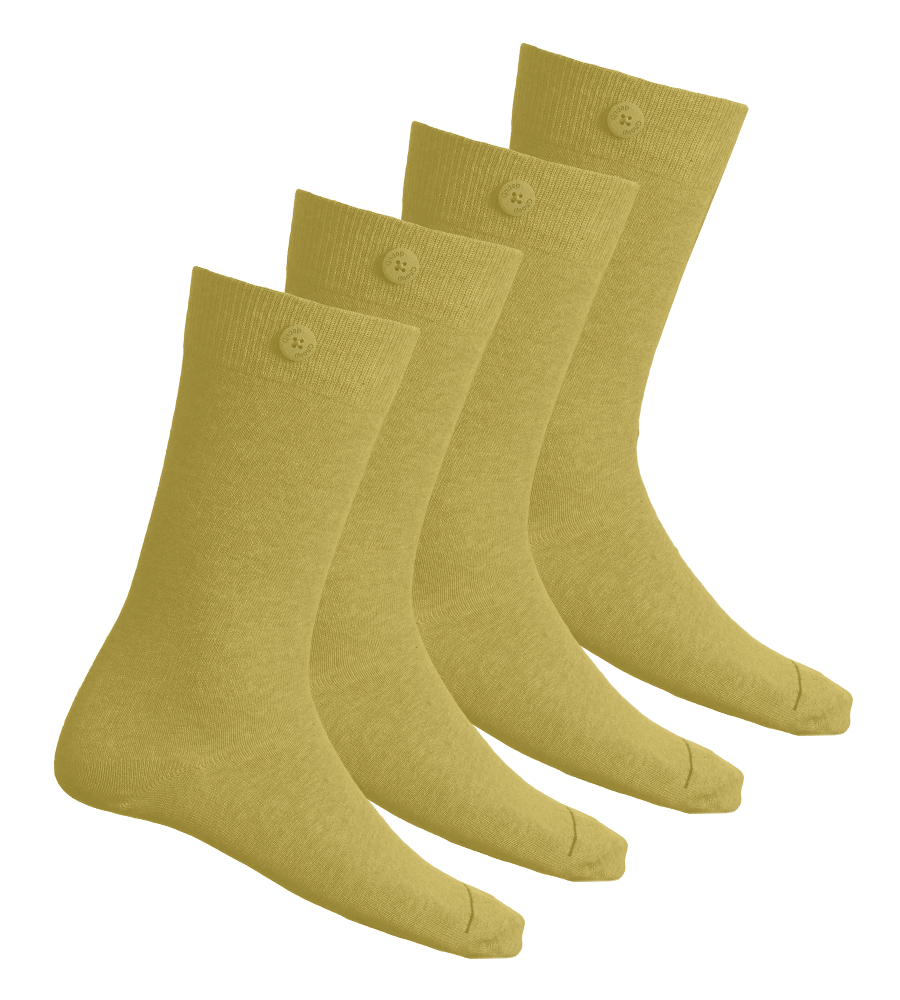 4 Pack Bundle - Solid Socks- Yellow - QNOOP