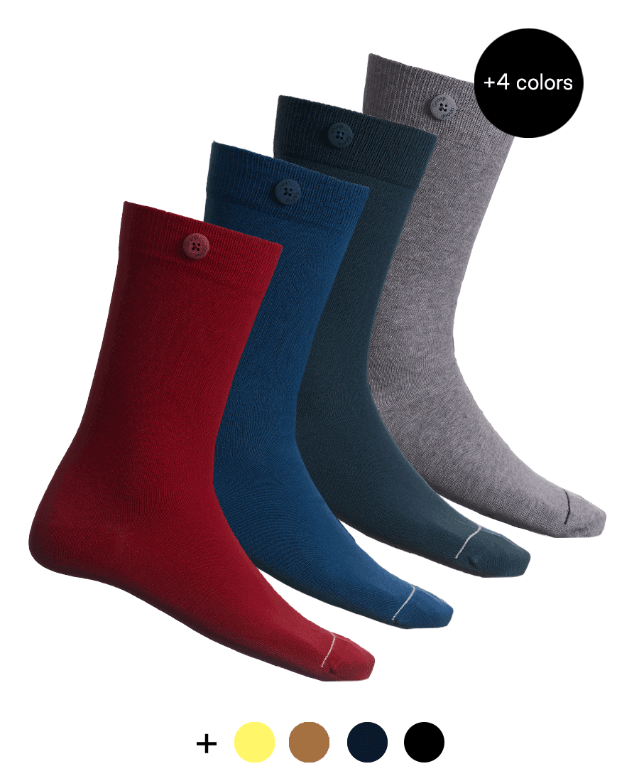 8 Pack Bundle - Solid Socks- Multi-color - QNOOP