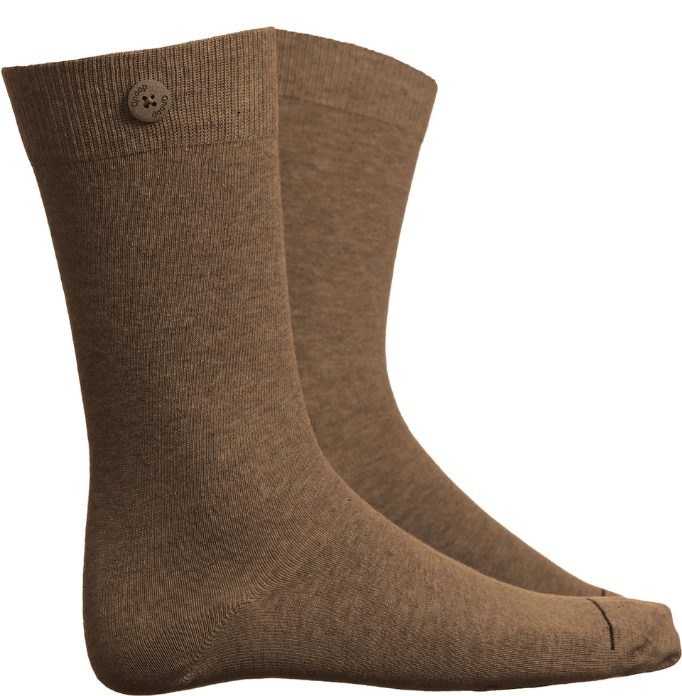 Qnoop Mens Organic Basics Socks Solid in Brown