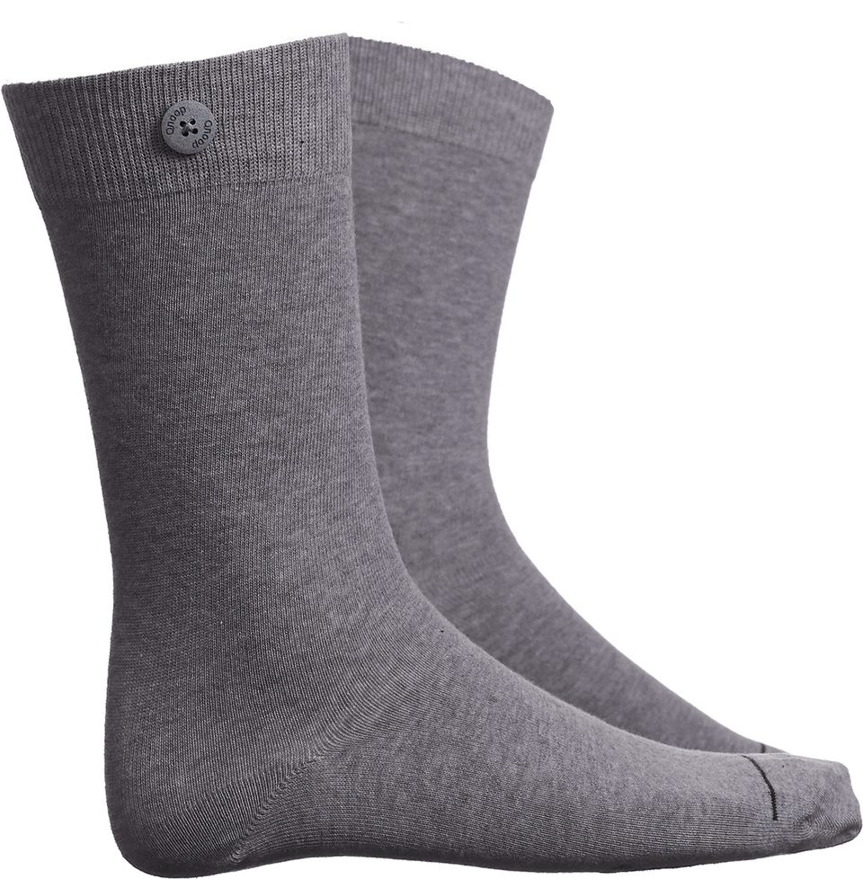 Solid Socks - Light Grey - QNOOP