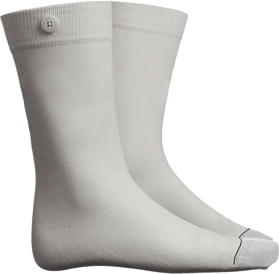 Solid Socks - White - QNOOP