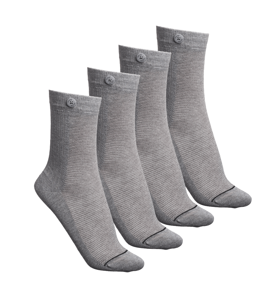 4 Pack Bundle - 2 Way Rib - Grey Melange - QNOOP