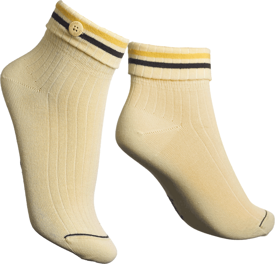 Qnoop Organic Cadence Socks in Yellow
