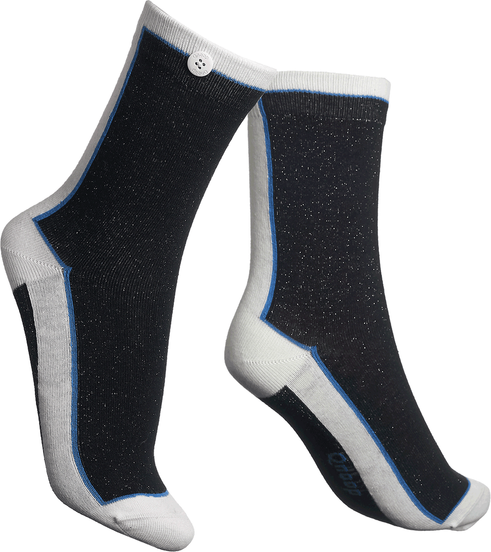 Qnoop Organic Century Socks in Black