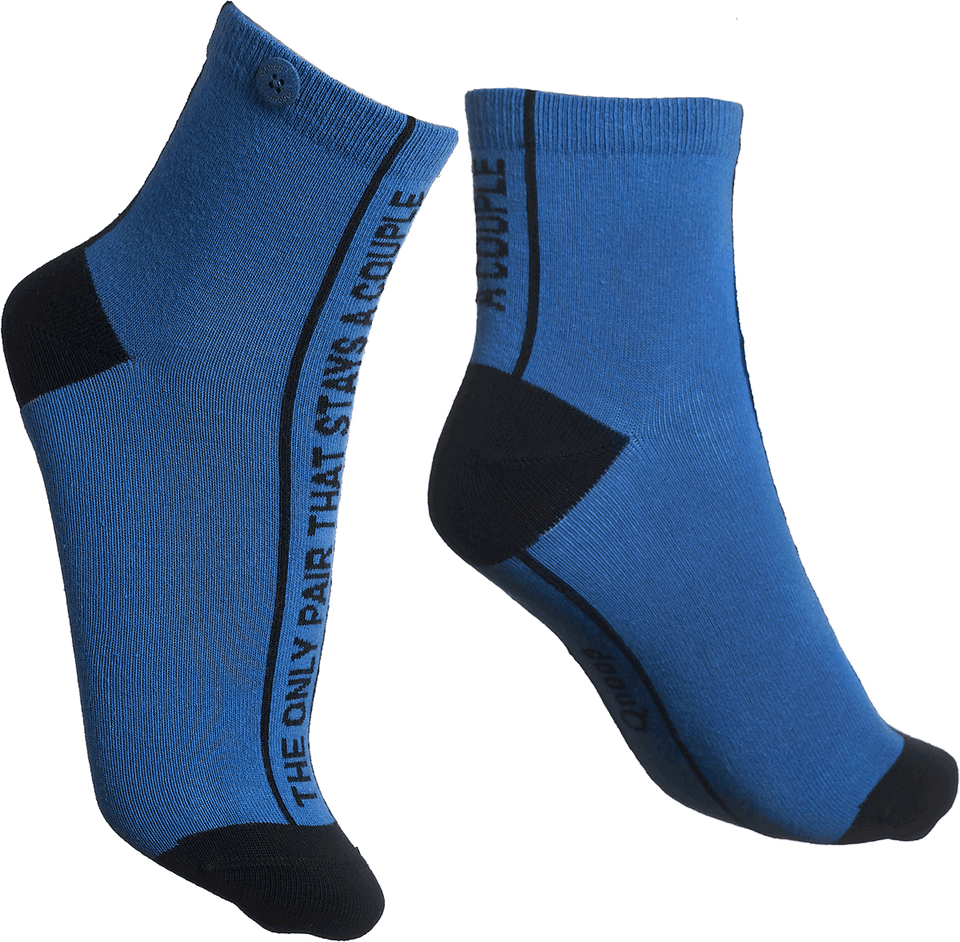 Qnoop Organic Socks Couple in Blue