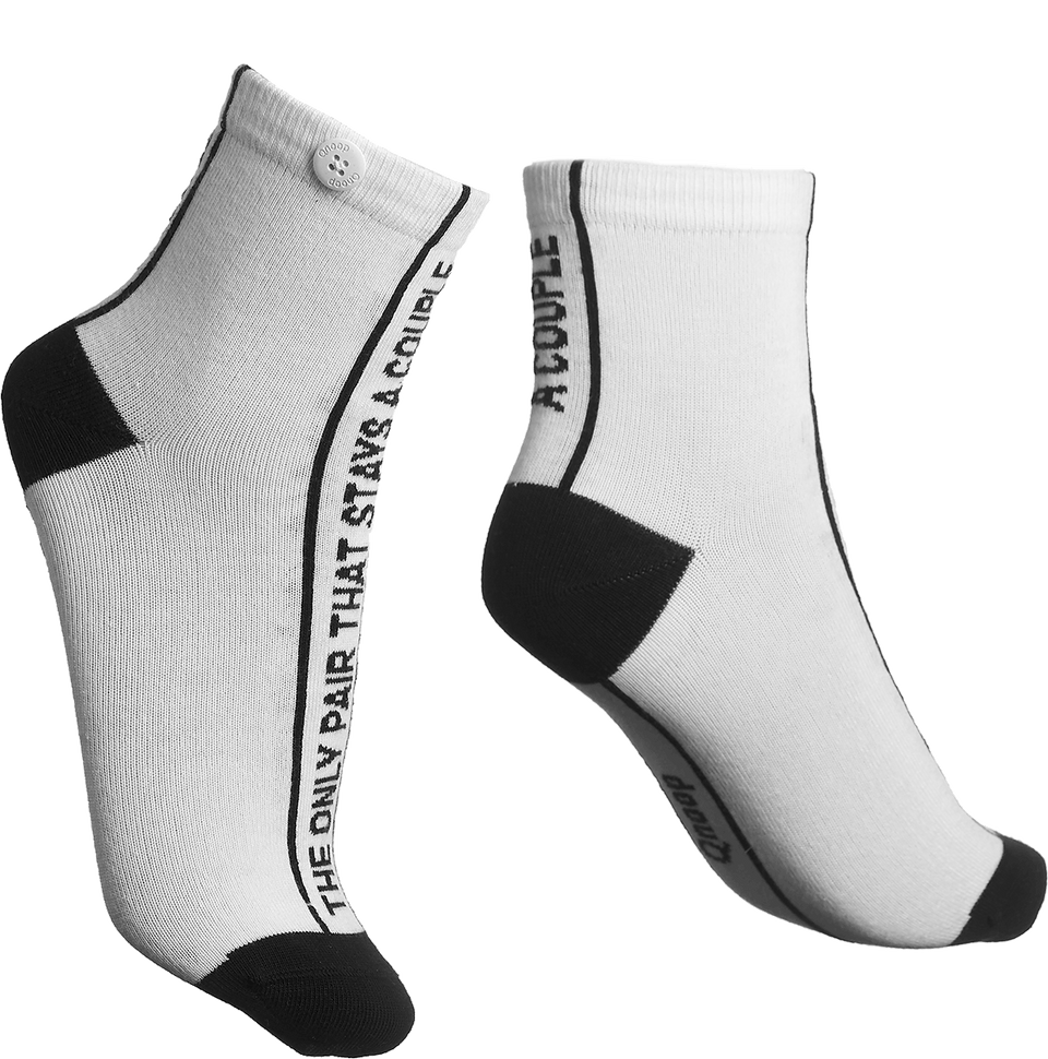 Qnoop Organic Socks Couple in White